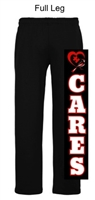 Black Open Bottom Sweatpants (Adult and Youth)