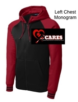 Black and Deep Red Performance Full-Zip Hooded Jacket (Adult)