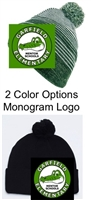 Winter Hat with Pom-Pom (One Size) Monogram Logo