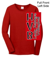 Red Ladies Long Sleeve T-Shirt (Ladies)