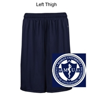 Navy Polyester Shorts with Pockets (Adult and Youth)