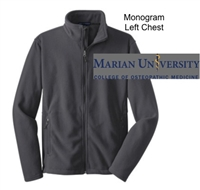 Iron Grey Fleece Full Zipper Jacket (Adult)