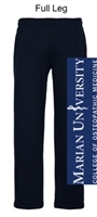 Navy Open Bottom Sweatpants with Pocket (Adult)