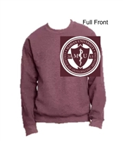 Heather Maroon Crew Sweatshirt (Adult)
