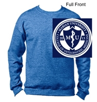Heather Royal Crew Sweatshirt (Adult)