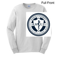 White Ultra Cotton Long Sleeve Shirt (Adult and Youth)