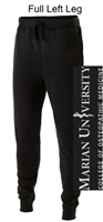 Black Cotton/Poly Fleece Jogger with Pockets (Adult)