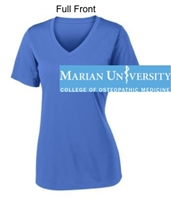 Carolina Blue V-Neck Short Sleeve Performance T-Shirt (Ladies)