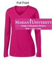 Pink Raspberry Performance Tee - Long Sleeve (Ladies)