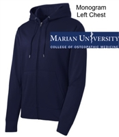 Navy Polyester Full Zipper Hooded Jacket (Adult)