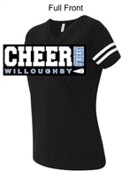 Black with White Short Sleeve Cotton/Polyester Jersey T-Shirt (Adult and Youth)