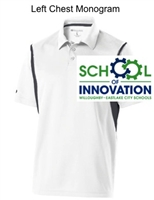 White and Graphite Polyester Polo (Adult)