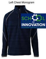 Navy Polyester 1/2 Zipper Weather Resistance Pullover (Adult)