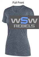 Graphite Heather Polyester V-Neck (Ladies)