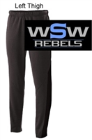 Black Performance Fleece Tapered Sweats with Pockets  (Adult and Youth)