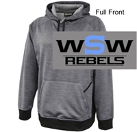 Silver Heather Polyester Fleece Hooded Sweatshirt (Adult and Youth)