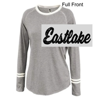 Silver Sand Cotton/Polyester Stripe Crew Long Sleeve (Ladies)