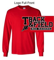 Red Long Sleeve Cotton T-Shirt (Adult and Youth)