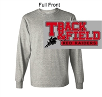Sport Grey Long Sleeve Cotton T-Shirt (Adult and Youth)