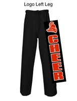 Black Open Bottom Fleece Sweatpants with Pockets (Adult)
