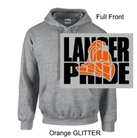 Sport Grey Hooded Sweatshirt (Adult and Youth) GLITTER
