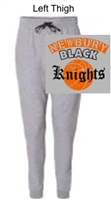 Grey with Charcoal Trim Cotton/Polyester Joggers (Adult)