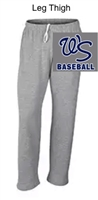 Grey Open Bottom Sweatpants with Pocket (Adult) NO pocket (Youth)