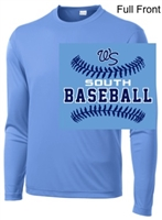 Columbia Blue Performance Tee - Long Sleeve (Youth and Adult)