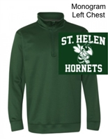 Hunter Green 1/4 Zipper Sweatshirt  (Adult)