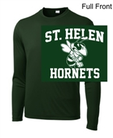 Hunter Green Performance Tee - Long Sleeve (Adult and Youth)
