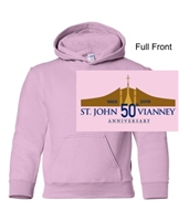 Light Pink Hooded Sweatshirt (Adult and Youth)