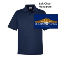 Navy Performance Polo  - Monogram Logo (Adult, Ladies and Youth)