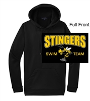 Black Polyester Hooded Sweatshirt (Adult and Youth)