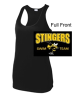 Black Polyester Racerback Tank Top (Ladies)