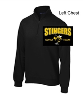 Black 1/4 Zipper Sweatshirt (Adult and Ladies)