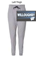 Athletic Heather with Charcoal Trim Cotton/Polyester Joggers (Adult)