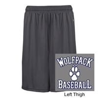 Grey Polyester Shorts with Pockets (Adult and Youth)