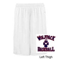 White Polyester Shorts with Pockets (Adult and Youth)