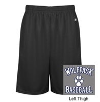 Grey Mesh Polyester Shorts with Pockets (Adult)