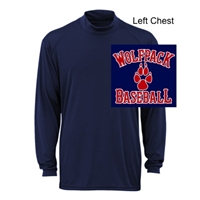 Navy Performance Mock Neck Shirt - Long Sleeve (Adult)