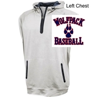 White Mid-Weight Performance Sleeveless  Hoodie  (Adult)