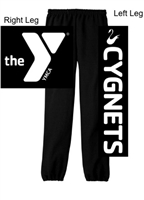 Black 50/50 Sweatpants (Adult and Youth)