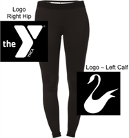Black Polyester Spandex Dri Legging (Ladies and Youth)