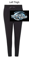 Black with Charcoal Trim Cotton/Polyester Joggers (Adult)