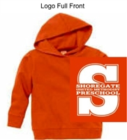 Orange Hooded Sweatshirt (Adult, Youth and Toddler)