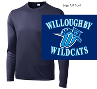Navy Long Sleeve Performance T-Shirt (Adult and Youth)