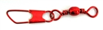 Eagle Claw Barrel Swivel w/Safety Snap Red