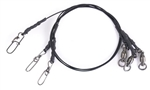 Mustad 1X7 Coated SS Wire Leader Black
