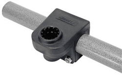 "Scotty 1-1/4"" Round/Square Rail Mount  245BK"