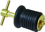 Sea Dog  Brass T-Handle drain Plug 1""